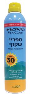 תרסיס שקוף להגנה מהשמש SPF 30