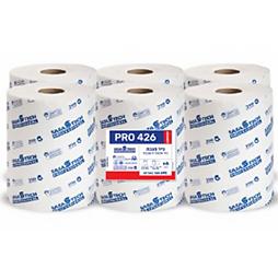 מגבות נייר בגליל PRO 426 COMFORT- נייר איכותי חד שכבתי 6 גלילים