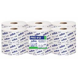 טואלט ג'מבו  PRO 412 ECO - נייר טבעי חד שכבתי 12 גלילים
