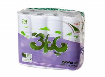 טואלט טאצ' 24- נייר טואלט דו שכבתי, איכותי וידידותי לסביבה