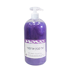 אל סבון נוזלי + משאבה סגול 1 ליטר נובו