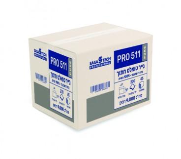 טואלט חתוך צץ רץ PRO 511 PURE- נייר איכותי דו שכבתי 100% תאית