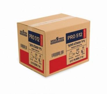 טואלט חתוך צץ רץ PRO 512 COMFORT- נייר איכותי דו שכבתי 24 גלילים