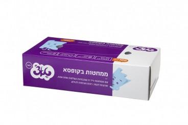 ממחטות טאצ' 100 בקופסא- ממחטות טישו דו שכבתיות רכות במיוחד