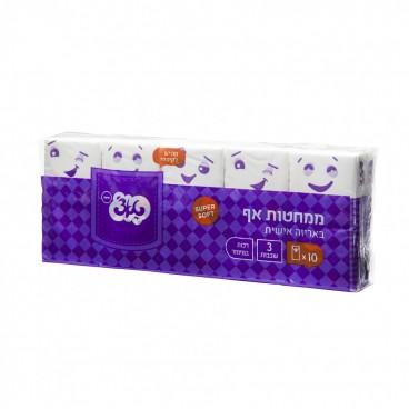 טאצ׳ ממחטות כיס רגיל- ממחטות אף באריזה אישית תלת שכבתי מיוצר מ 100% תאית