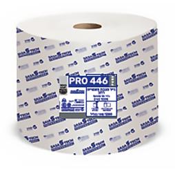 גליל מגבת תעשייתי רחב PRO 446 ECO- נייר טבעי חד שכבתי 100% תאית