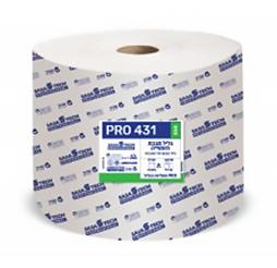 גליל מגבת תעשייתי PRO 431 ECO- נייר טבעי חד שכבתי כולל פרפורציה