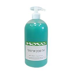 נובו אל סבון נוזלי + משאבה ירוק 1 ליטר