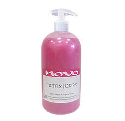 נובו אל סבון נוזלי + משאבה ורוד 1 ליטר