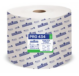 גליל מגבת תעשייתי PRO 434 ECO- נייר טבעי חד שכבתי כולל פרפורציה