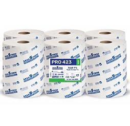מגבות נייר בגליל PRO 423 ECO- נייר טבעי חד שכבתי 6 גלילים