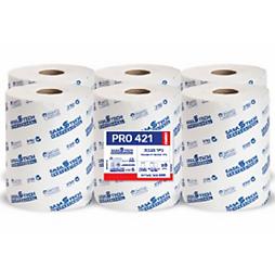 מגבות נייר בגליל PRO 421 COMFORT- נייר איכותי חד שכבתי 6 גלילים